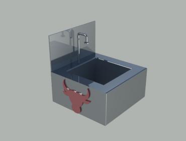 Butcher Sink Wall Mounted